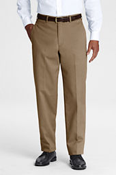 Men's Pre-hemmed Plain Front Traditional Fit  No Iron Chino Pants