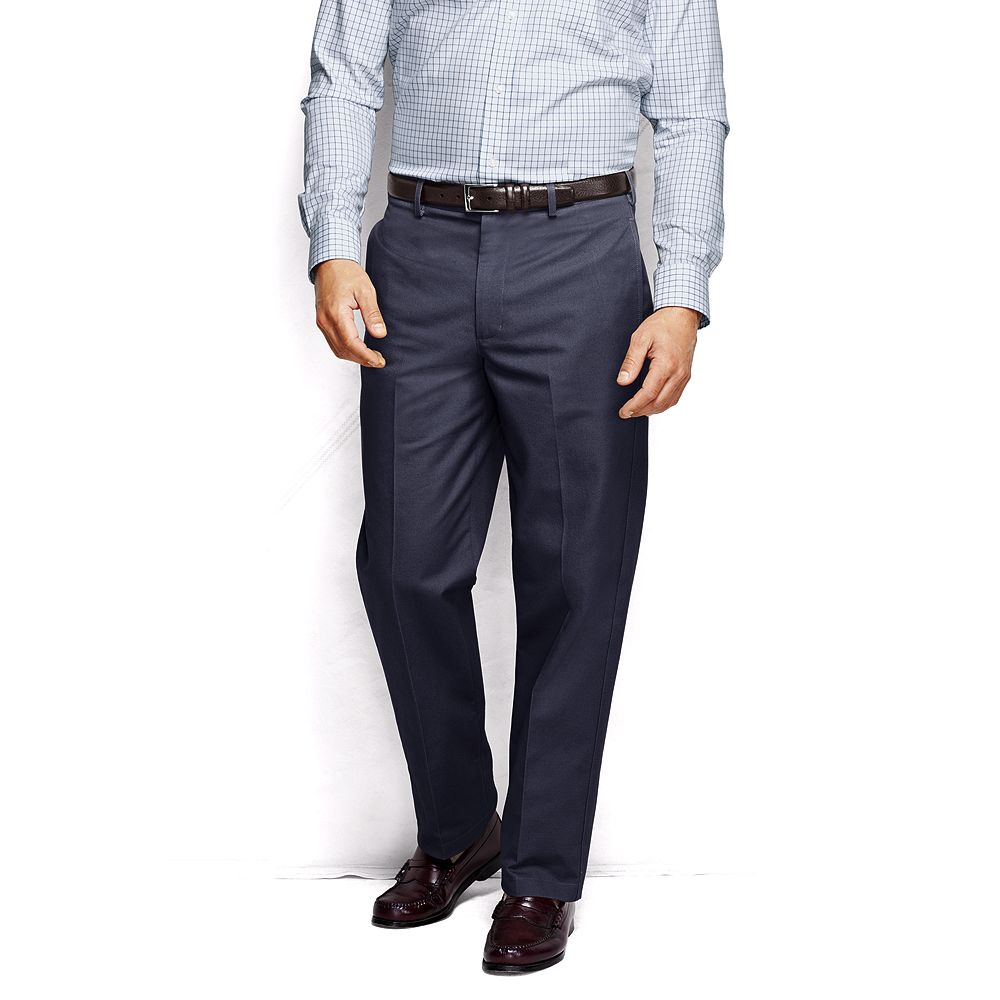 Lands' End Men's Big & Tall and Tall Plain Front Traditional Fit No Iron Chino Pants at Sears.com