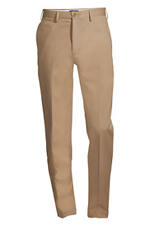 Men's Traditional Fit Plain Front No-iron Chinos