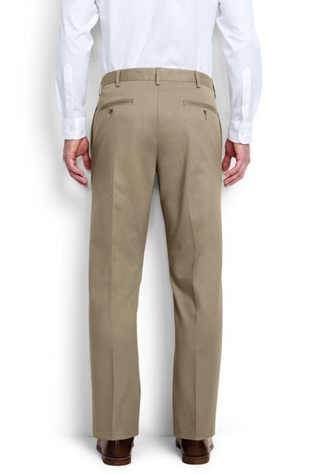 Men's Big & Tall  Plain Front Traditional Fit No Iron Chino Pants