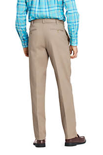 Men's Long Traditional Fit No Iron Chino Pants, Back