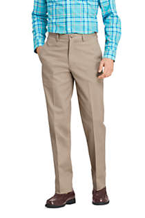 Men's Long Traditional Fit No Iron Chino Pants, Front