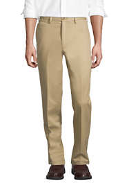 Men's Long Traditional Fit No Iron Chino Pants