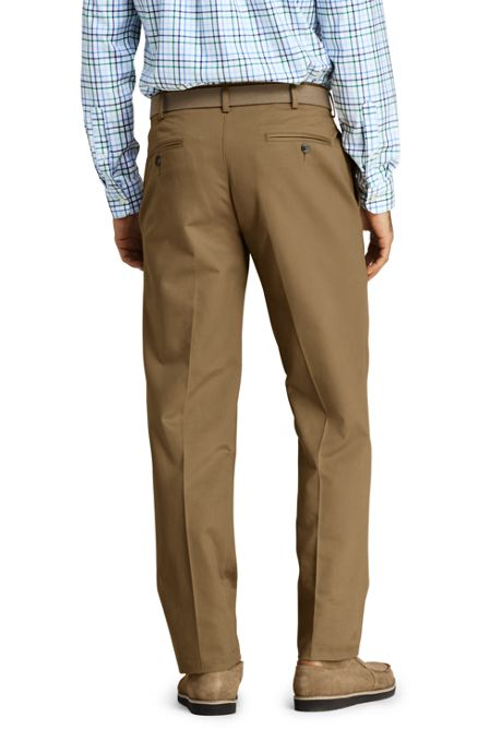 Men's Traditional Fit Plain No Iron Chino Pants