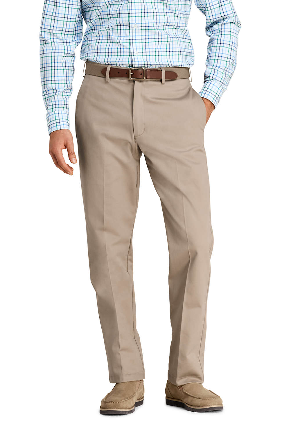 1a2b12acbc70f Men's Traditional Fit Plain No Iron Chinos from Lands' End