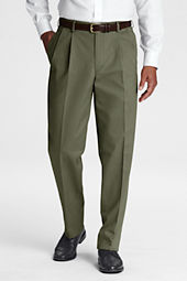 Men's Pre-hemmed Pleat Front Traditional Fit No Iron Chino Pants