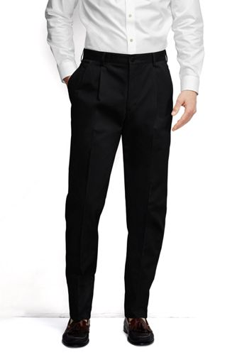 outlet on sale well known order Men's Pleated Non-iron Chinos, Traditional Fit
