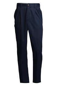 Men's Traditional Fit Pleated No Iron Chino Pants