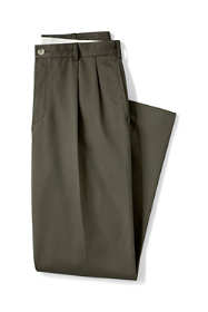 Men's Pleat Front Traditional Fit No Iron Chino Pants