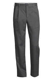 Men's Big and Tall Traditional Fit Pleated No Iron Chino Pants