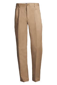 Men's Long Pleat Front Traditional Fit No Iron Chino Pants