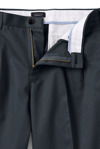 Men's Traditional Fit Pleated Front No-iron Chinos
