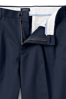 Men's Pleated Non-iron Chinos, Traditional Fit