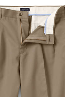 Men's Long Traditional Fit Pleated No Iron Chino Pants, Unknown