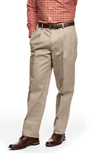 School Uniform Men's Traditional Fit Pleated No Iron Chino Pants, Front
