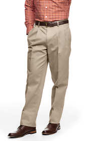 School Uniform Men's Pleat Front Traditional Fit No Iron Chino Pants