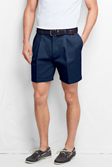Lands End Mens No Iron Front Chino Shorts
