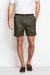"Men's 6"" Pleat Front Comfort Waist No Iron Chino Shorts"