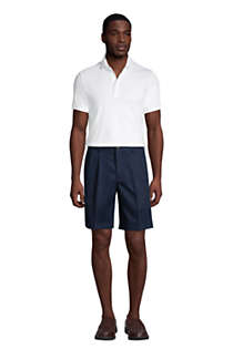 "Men's Comfort Waist Pleated 6"" No Iron Chino Shorts, Unknown"
