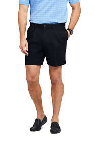 "Men's Comfort Waist Pleated 6"" No Iron Chino Shorts"