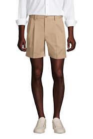 """Men's Comfort Waist Pleated 6"""" No Iron Chino Shorts"""