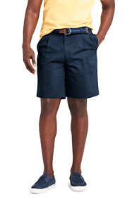 "Men's Big and Tall 9"" Pleat Front Comfort Waist No Iron Chino Shorts"