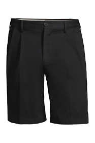 "Men's Big and Tall Comfort Waist Pleated 9"" No Iron Chino Shorts"