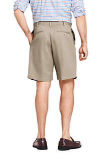 "Men's Comfort Waist Pleated 9"" No Iron Chino Shorts, Back"