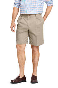 "Men's Comfort Waist Pleated 9"" No Iron Chino Shorts"