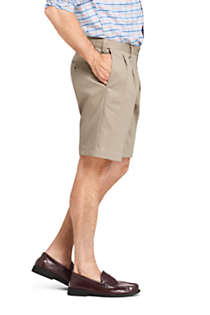 "Men's Comfort Waist Pleated 9"" No Iron Chino Shorts, Unknown"