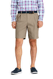 "Men's 9"" Pleat Front Comfort Waist No Iron Chino Shorts"