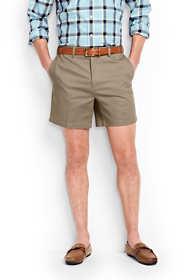 "Men's No Iron 6"" Plain Front Comfort Waist Chino Shorts"