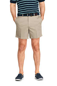 "Men's 6"" Plain Front Comfort Waist No Iron Chino Shorts"