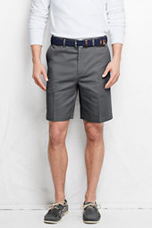 "Men's 9"" Plain Front  Comfort Waist No Iron Chino Shorts"