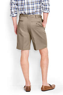 "Men's Big and Tall Comfort Waist 9"" No Iron Chino Shorts, Back"