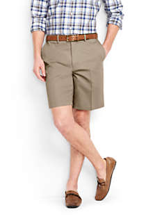 "Men's Big and Tall Comfort Waist 9"" No Iron Chino Shorts, Front"