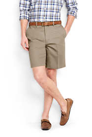 "Men's Big and Tall 9"" Plain Front Comfort Waist No Iron Chino Shorts"