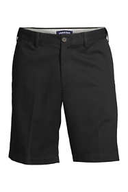 "Men's Big & Tall No Iron 9"" Plain Front Comfort Waist Chino Shorts"