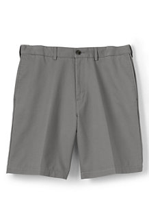 Men's Plain Front Comfort Waist No-Iron Chino Shorts