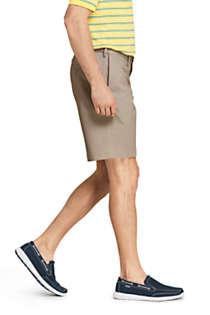 "Lands End Mens Big /& Tall 54 No Iron Plain Front Comfort Waist Chino Shorts 9.5/"""