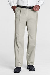 Men's Pre-hemmed Pleat Front Traditional Fit No Iron Twill Dress Pants