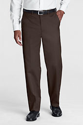Men's Pre-hemmed Plain Front Comfort Waist No Iron Twill Dress Pants