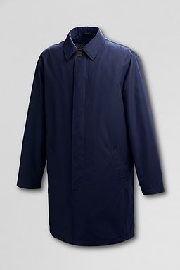 Microfiber Raincoat with Zip-out Liner: True Navy