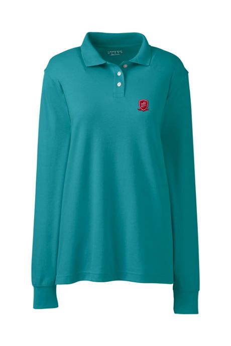 School Uniform Exclusive Women's Long Sleeve Interlock Polo