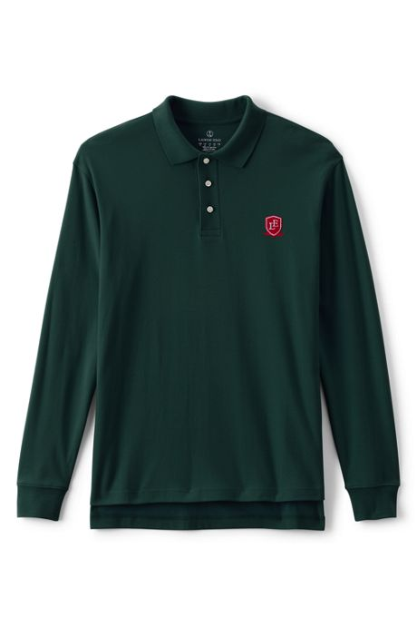 School Uniform Logo Men's Tall Long Sleeve Interlock Polo