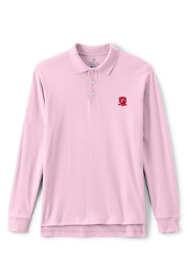 School Uniform Exclusive Men's Long Sleeve Interlock Polo
