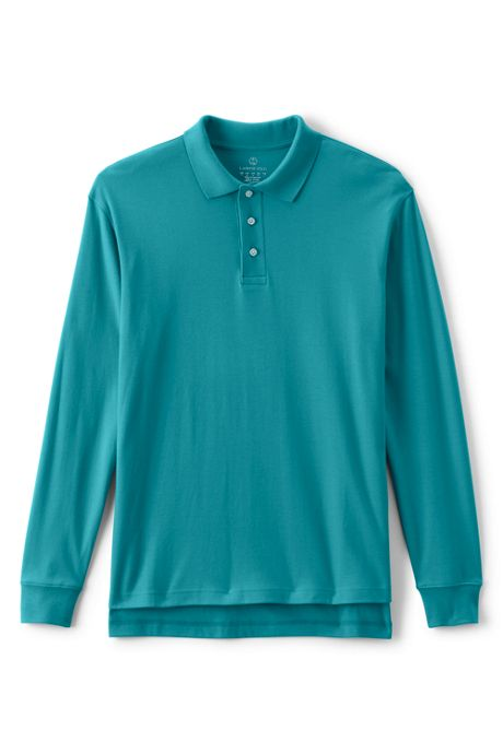 Uniform Men's Long Sleeve Interlock Polo Shirt