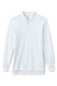 School Uniform Men's Long Sleeve Interlock Polo
