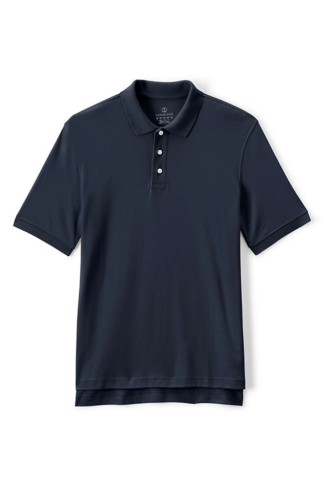 Men's Tall Short Sleeve Interlock Polo Shirt, Front