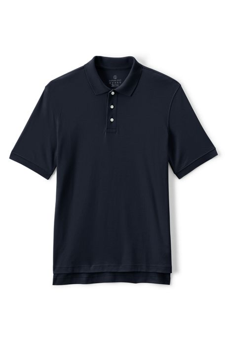 School Uniform Men's Tall Short Sleeve Interlock Polo Shirt